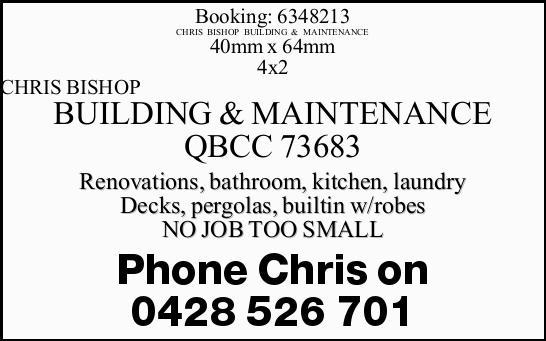 QBCC 73683  Renovations  Bathroom  Kitchen  Laundry  Decks  Per...