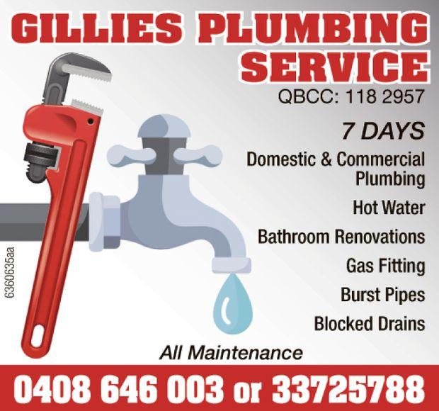 Gillies Plumbing Service provide a full range of plumbing services across Brisbane's western...