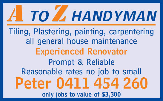 Tiling, Plastering, painting, carpentering all general house maintenance