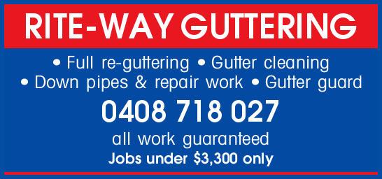 Full re-guttering  Gutter cleaning  Down pipes  Repair work  Gutter guard...