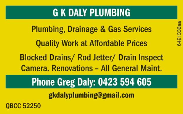 PLUMBING | DRAINAGE | GAS SERVICES   Quality Work at Affordable Prices   Blocked Drains...
