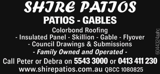 SHIRE PATIOS 