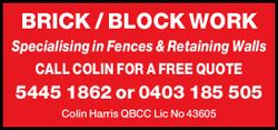 BRICK / BLOCK WORK 