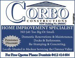 6443397ae HOME IMPROVEMENT SPECIALIST NO Job Too Big Or Small. Domestic Renovations & Maintenanc...