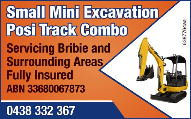 Small Mini Excavation Posi Track Combo   Servicing Bribie and Surrounding Areas   Fully I...