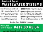 Service & Repair Waste Water Systems
