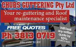 Your re-guttering and Roof maintenance specialis