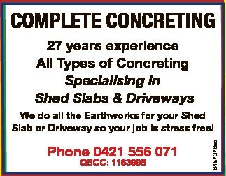 CAMIRA'S LOCAL CONCRETERS - WE DO EVERYTHING