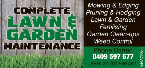 Mowing & Edging  Pruning & Hedging  Lawn & Garden  Fertilising ...