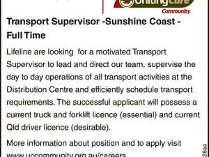Transport Supervisor -Sunshine Coast - Full Time