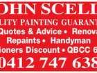 JOHN SCELLS QUALITY PAINTING GUARANTEED