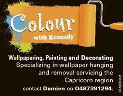 Colour Wallpapering, Painting and Decorating Specializing in wallpaper hanging and removal servicing...