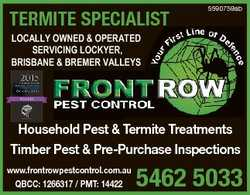 TERMITE SPECIALIST 5590759ab LOCALLY OWNED & OPERATED SERVICING LOCKYER, BRISBANE & BREME...