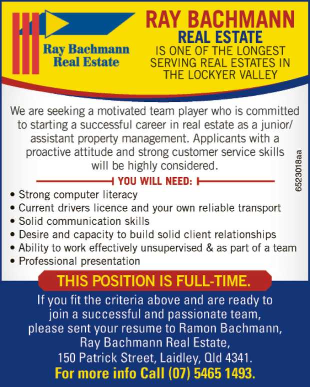 Ray Bachmann Real Estate Is One Of The Longest Serving Real Estates In The Lockyer Valley   W...