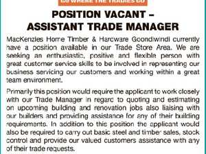 ASSISTANT TRADE MANAGER