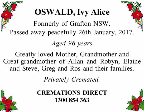 OSWALD, Ivy Alice 