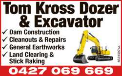 Dam Construction, Cleanouts & Repairs, General Earthworks, Land Clearing & Stick Raking ...