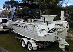 STACER 565 Coral Master, 2006, 5.6m, 115hp Evinrude, bimini, trailer, 135L fuel tank, Garmin soun...
