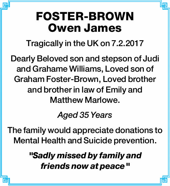 FOSTER-BROWN Owen James 