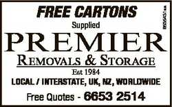 FREE CARTONS Supplied