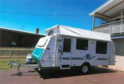 JAYCO Freedom poptop  2003  17'  island bed, 150l 3way fridge, gas/elec...