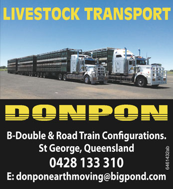 DONPON LB-Double & Road Train Confirguations St George, Queensland 0428 133 310 E: do...