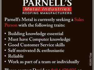 Parnell's Metal is currently seeking a Sales Person with the following traits: