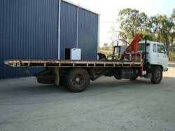 Isuzu 1984 JCR-500 Tilt Tray, Hiab Crane, 10 Ton Winch, Good Tyres, No Rust, GVM 13500, Tow Bar;...