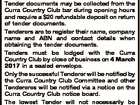 FOR CLEANING OF THE CURRA COUNTRY CLUB PREMISES Tender documents may be collected from the Curra Country Club bar during opening hours and require a $20 refundable deposit on return of tender documents. Tenderers are to register their name, company name and ABN and contact details when obtaining the tender ...