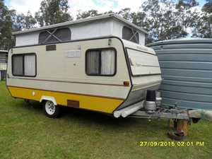Viscount Ultra-Lite Pop Top Caravan, 14ft 1986 model