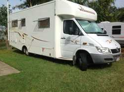 Mercedes,automatic,2005,diesel,Corner double bed Bathroom with separate shower & toilet,96000kms,Kit...