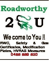 We come to You !! RWC, Safety & Gas Certificates, Modification Plates, HVRAS Measures 0455 559 520