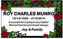 ROY CHARLES MUNRO