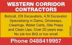 Bobcat, 20t Excavators, 4.5t Excavator. Specialising in Dams, Driveways, Clearings, Water Carts, Sit...