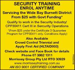 SECURITY TRAINING ENROL ANYTIME From $25 with Govt Funding*   Qualify to work in the...