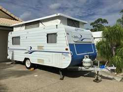 GOLDSTREAM SAPHIRE 2001, 16', immac, new awning, smart charger, twin beds, a/c, m'wav...