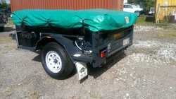 SEMI-OFFROAD camper trailer, as new cond, never been used, s/s kitchen, KS bed, electric brakes,...