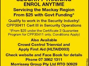 SECURITY TRAINING - ENROL ANYTIME