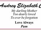 Audrey Elizabeth Cole
