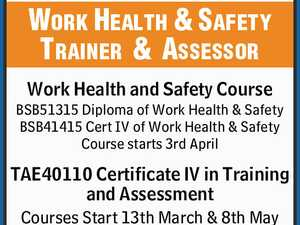 Work Health & Safety and Trainer & Assessor Courses starting soon