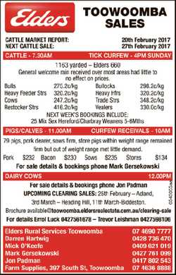 Next Cattle Sale 27th February 2017