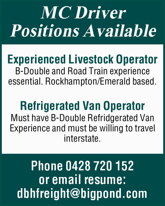 MC Driver Positions Available: