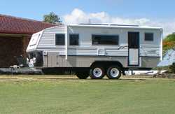2011 Custom 21ft Bushtracker Caravan, 55,000kms, fully self sufficient, island q/bed, separate en...