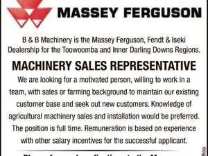 MACHINERY SALES REPRESENTATIVE