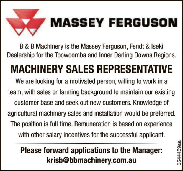 B & B Machinery is the Massey Ferguson, Fendt & Iseki