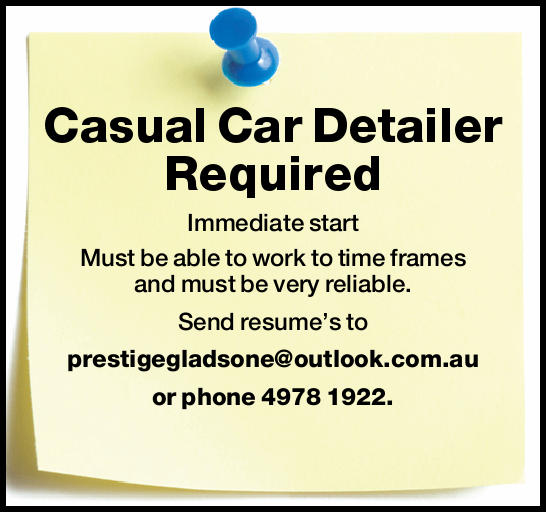 Casual Car Detailer Required