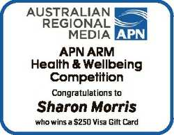 APN ARM Health & Wellbeing Competition Congratulations to Sharon Morris who wins a $250 Visa Gif...