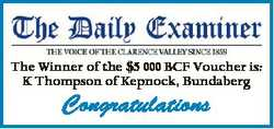 The Winner of the $5 000 BCF Voucher is: K Thompson of Kepnock, Bundaberg Congratulations