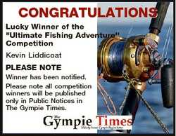 """CONGRATULATIONS Lucky Winner of the """"Ultimate Fishing Adventure"""" Competition Kevin Liddico..."""