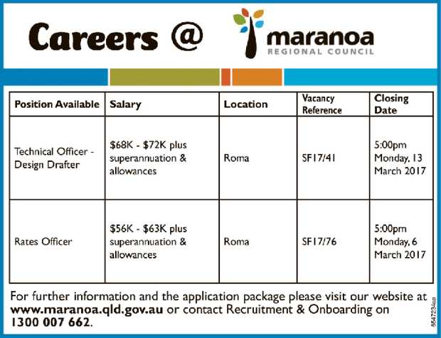 Rates Officer (Vacancy Reference SF17/76)    Roma  Full-time (36.25 hours per week)...